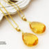 宝石界の皇帝 インペリアルトパーズの大粒ネックレス 14kgf 11月誕生石