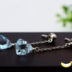 宝石の輝き スカイブルートパーズ トライアングル ファセットカット 小粒のシンプルピアス silver925