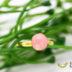 【再販×2】女性らしさUP ピンクオパール 8mm カボションリング フリーサイズ ゴールド
