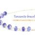 手首に宝石の輝きをまとう 12月誕生石 タンザナイト Silver925ブレスレット