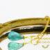 世界四大宝石の1つ エメラルド ドロップ プレーン 14kgf ネックレス 5月誕生石